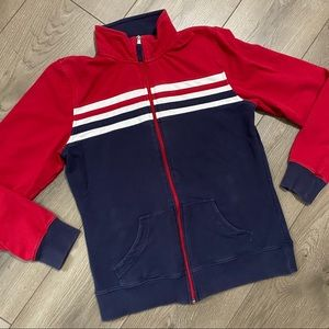 SJB Active red and navy athletic jacket